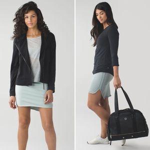 NWT Lululemon City Skirt Heathered Earl Grey